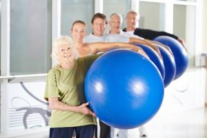 Reha-Sport Gruppe in der Praxis für Physiotherapie Sonja Engers in Girod